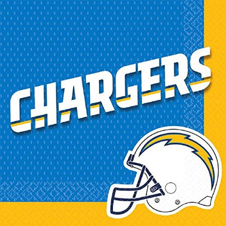 Sports and Tailgating NFL Party San Diego Chargers Luncheon Napkins Tableware, Paper, 6