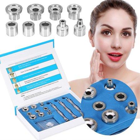 TMISHION Diamond Microdermabrasion Exfoliation System Massage Tool Multifunction Facial Machine Salon Spa Beauty Equipment Accessory, 13 PCS/Set