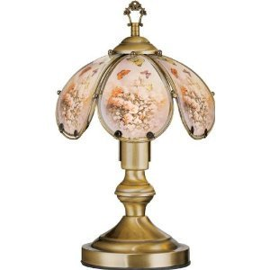 Gl Rose Erfly Theme Antique Bronze Base Touch Lamp 14 25 H This Is Inches Tall By Ok Lighting