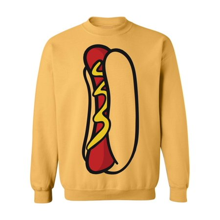 Allntrends Adult Sweatshirt Hot Dog Top Food Costume Cool Halloween Top - Cool Halloween Food Names