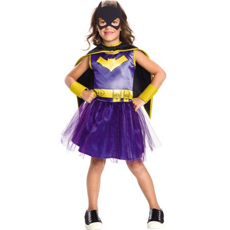 Dc Comics Girls Batgirl Superhero Childs Halloween Costume - Batgirl Costume Girl