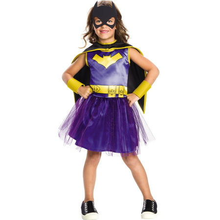 Dc Comics Girls Batgirl Superhero Childs Halloween Costume - Halloween Costume Superhero