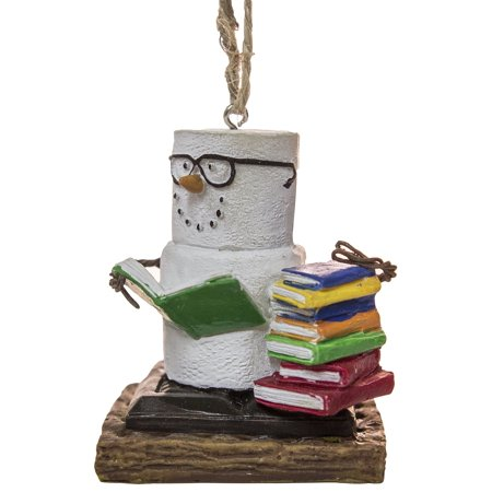 S'Mores Book Lovers Book Nerd Christmas/ Everyday Ornament ()