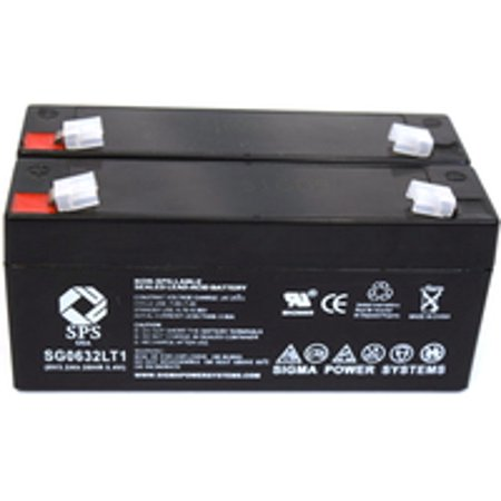 Sps Brand 6 V 3 2 Ah Replacement Battery With Terminal T1  For Rigel 309 Multicare Monitor  2 Pack
