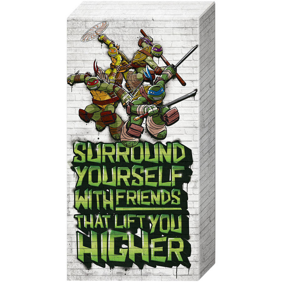 Ninja Turtles 'Surround' Inspirational Canvas