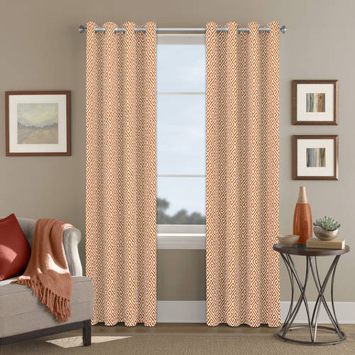 Better Homes and Gardens Greek Key Printed Window Curtain with Grommets