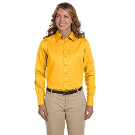 Harriton M500W Dress Shirt Women's Long Sleeve Twill Stain-Release
