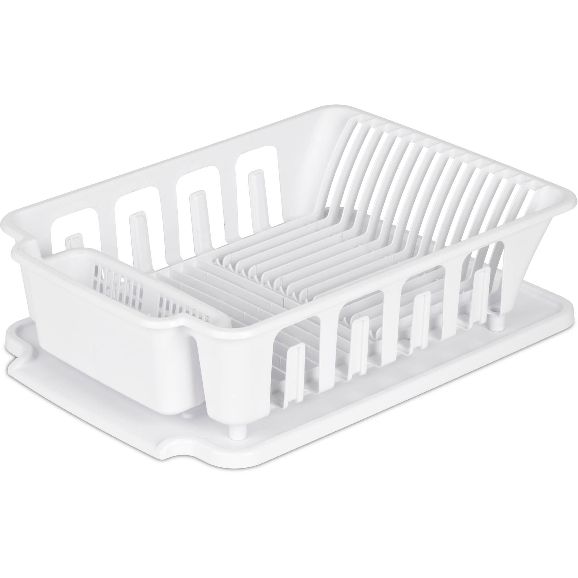 Sterilite 2pc Large Sink Set, White