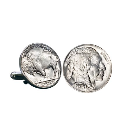Buffalo Nickel Coin Cuff Links