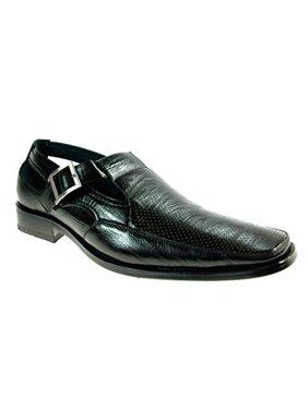 Delli Aldo Men's 21006 Black Buckle Dress Sandal