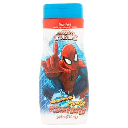 Marvel Ultimate Spider-Man Superpower Punch Bubble Bath, 24 fl