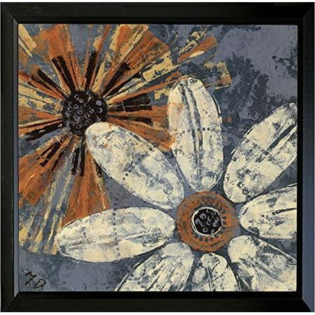 Buyartforless Framed Berkeleys Flowers I By Maria Donovan 12X12 Art Print Poster Pop Art Flowers Earth Tones