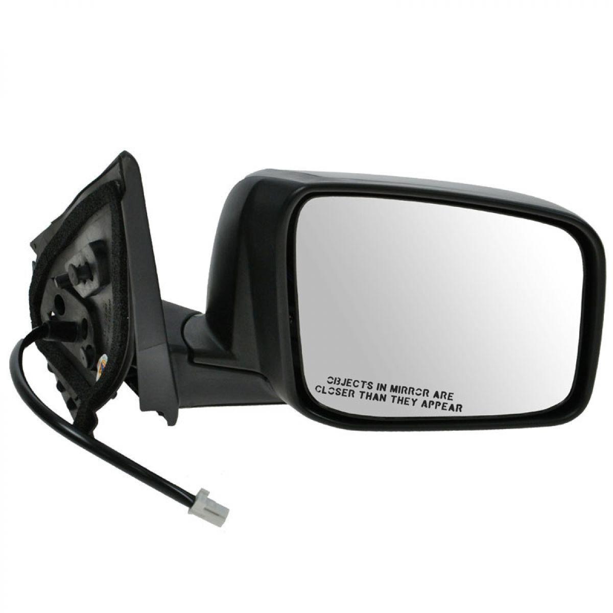 Fits 08-13 Nissan Rogue Power Heated Black Mirror RH Passenger