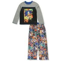 Sonic the Hedgehog Boys' Comic Strip 2-Piece Pajamas