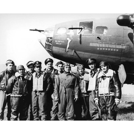 Memphis Belle and Crew England 1943 Poster Print by McMahan Photo Archive (10 x 8) (Belles Photos D'halloween)