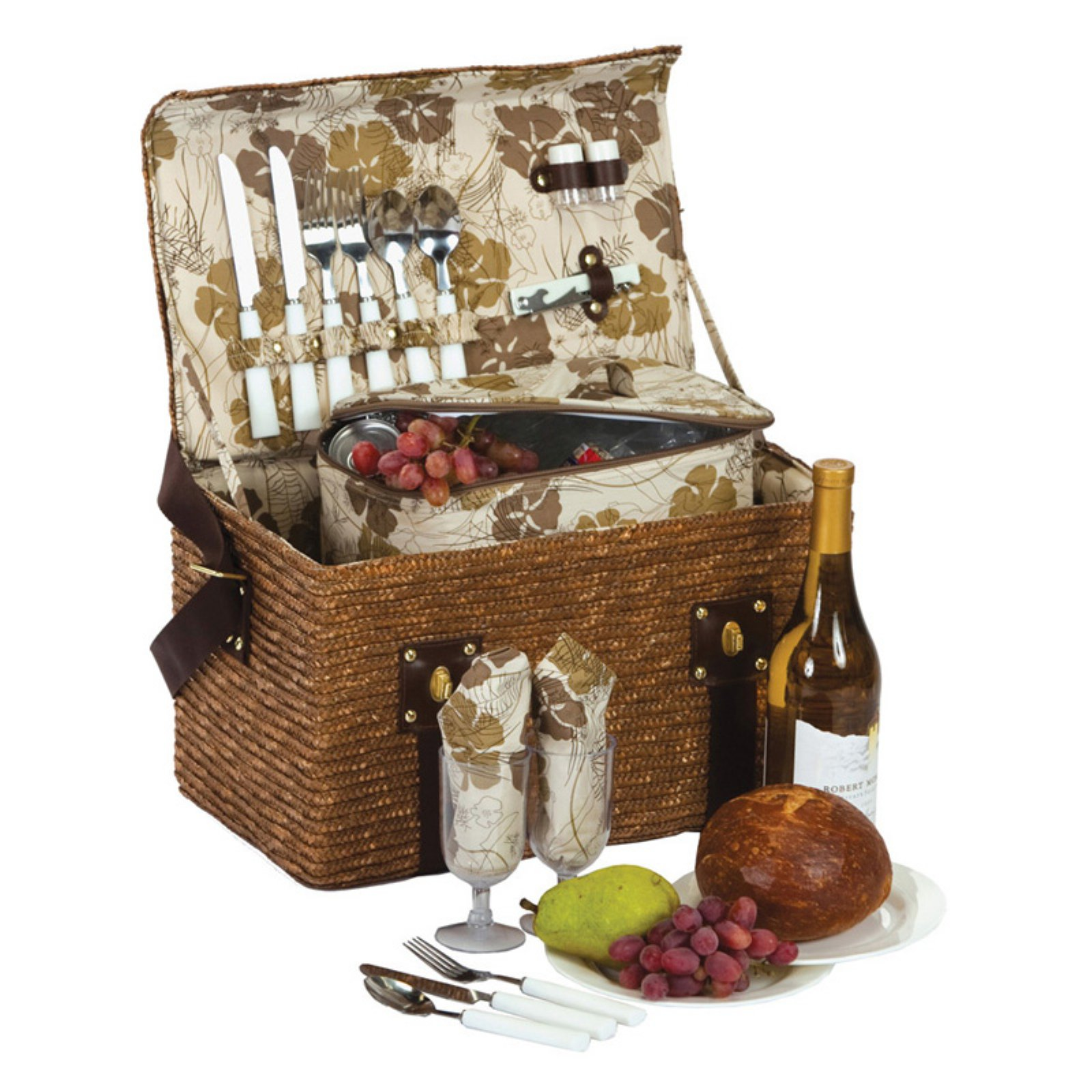 Picnic Plus Woodstock 2 Person Picnic Basket - Fern Lining