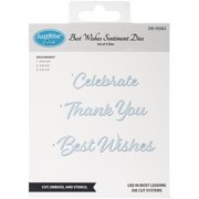 Justrite Custom Dies 3/Pkg-Best Wishes Sentiment