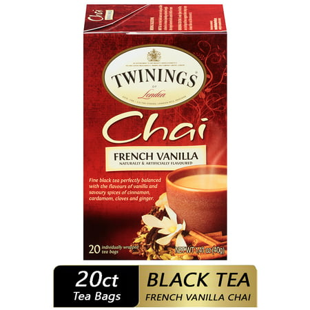 Twinings of London Chai French Vanilla Tea Bags, 20 Ct. 1.41 oz.
