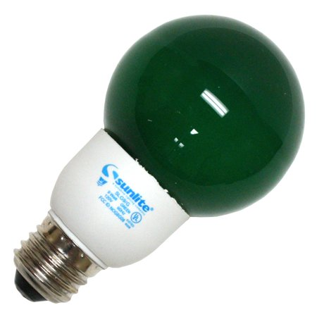 Sunlite 05660 - SLG9/G GREEN 9W G21 GLOBE CFL MED BASE #05660 8000HR Colored Compact Fluorescent Light Bulb Medium Fluorescent Green
