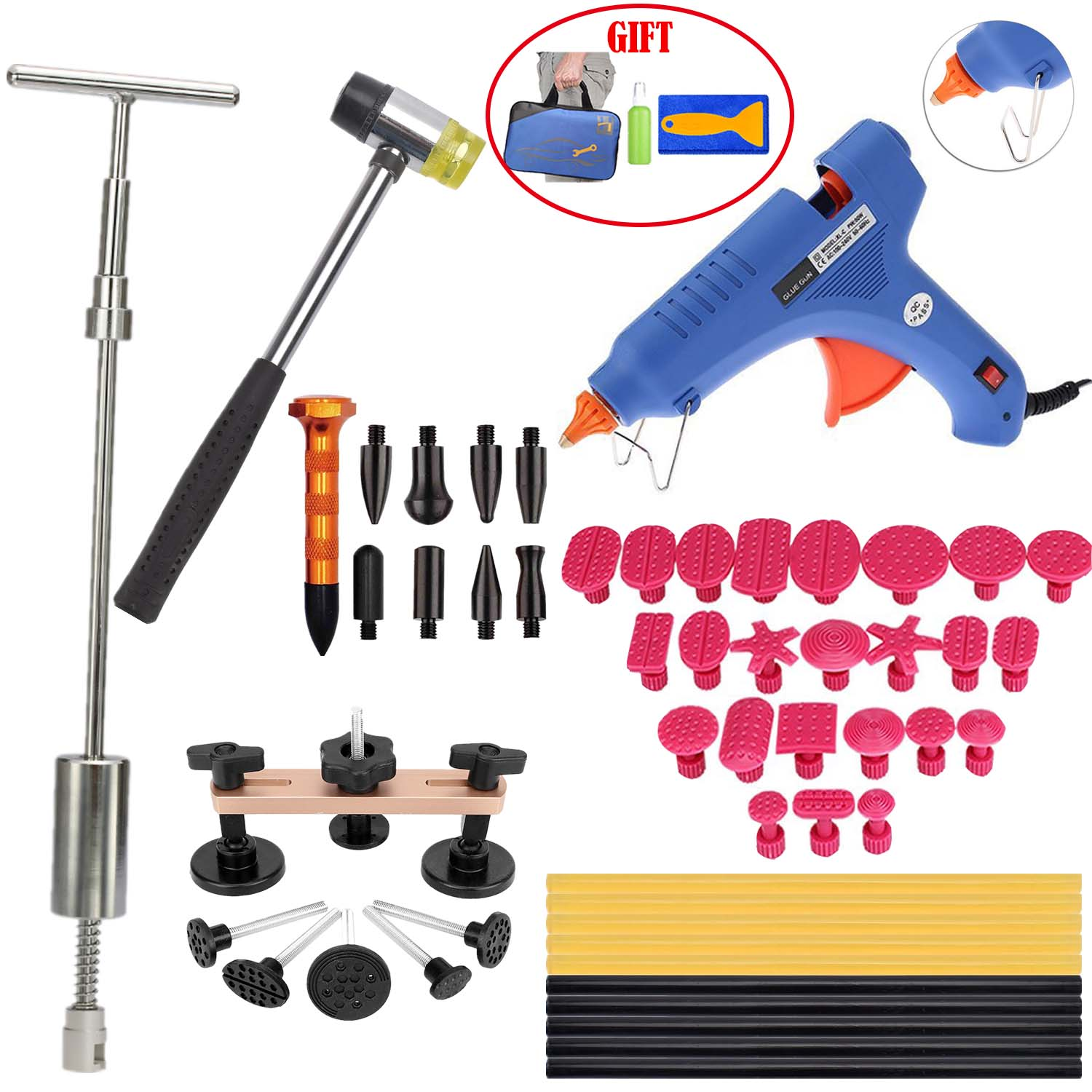 Paintless Dent Repair Tools Removal Kits - Pops a Lifter Bridge Puller PDR Hot