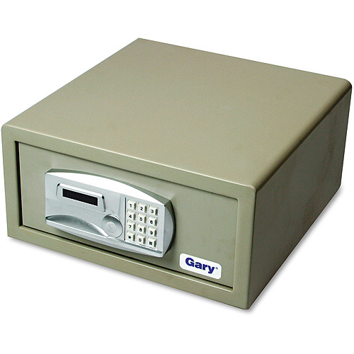 Gary Laptop Safe, 1.2 ft3, 15-3/4w x 16-5/8d x 7-3/4, Light Gray
