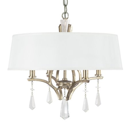 Capital Lighting Margo Winter Gold 4 Light Dual Mount Pendant