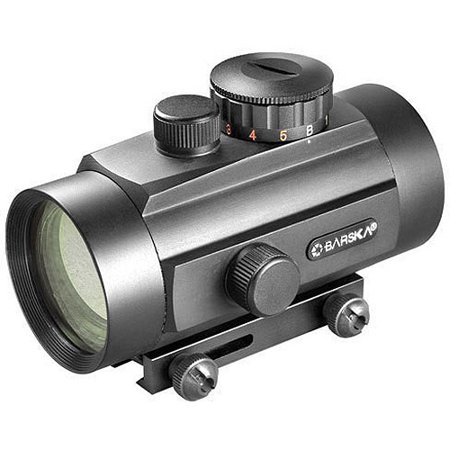 Barska 40mm Dual Color Red Dot Scope with Dual Size Mount