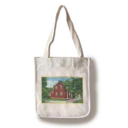 Providence, Rhode Island - Roger Williams Park View of Betsy Williams Cottage (100% Cotton Tote Bag - Reusable) - Roger Williams Park Halloween