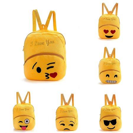 Heepo Emoji Shoulder Bag Backpack Student Boy Girl Rucksack School Bookbag Gift (Girls Gift Bags)