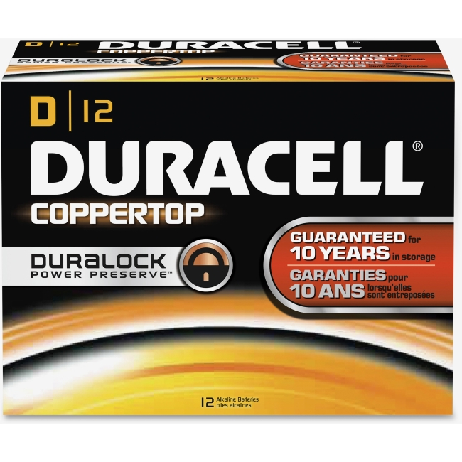 Duracell CopperTop D Batteries - D - Alkaline - 12 / Box