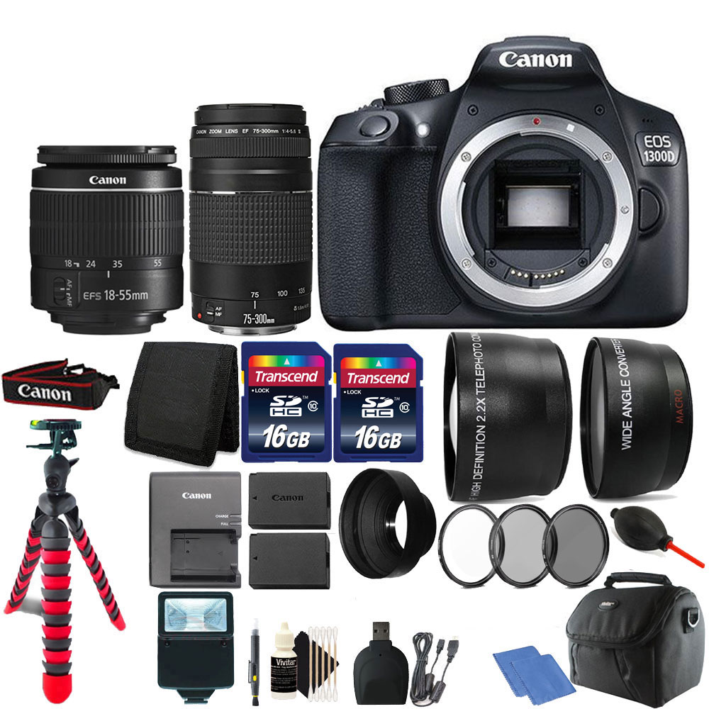 Canon EOS Rebel 1300D/T6 D-SLR Camera with 32GB Top Acces...