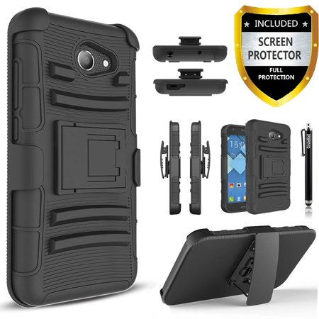online store 63006 6e938 Alcatel Zip LTE, Alcatel A577VL, Alcatel A30, Alcatel Kora, Alcatel A30  Plus Case, Dual Layers [Combo Holster] And Built-In Kickstand with [Premium  ...