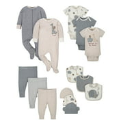 Wonder Nation Baby Boy or Girl Gender Neutral Shower Layette Gift Set, 14-piece