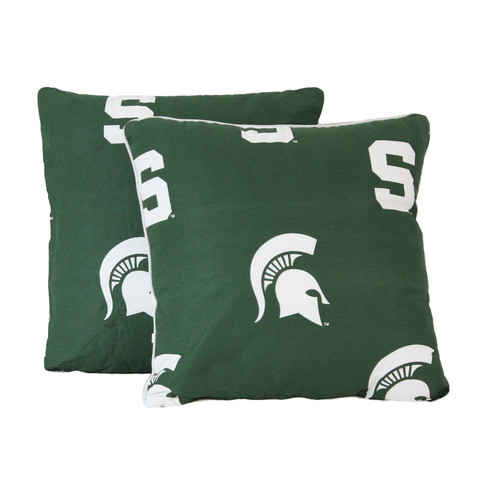 College Covers NCAA Michigan State Decorative Cotton Throw Pillow (Set of 2)