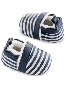 Newborn Baby Boy Zoomer Stripe Shoes, NB