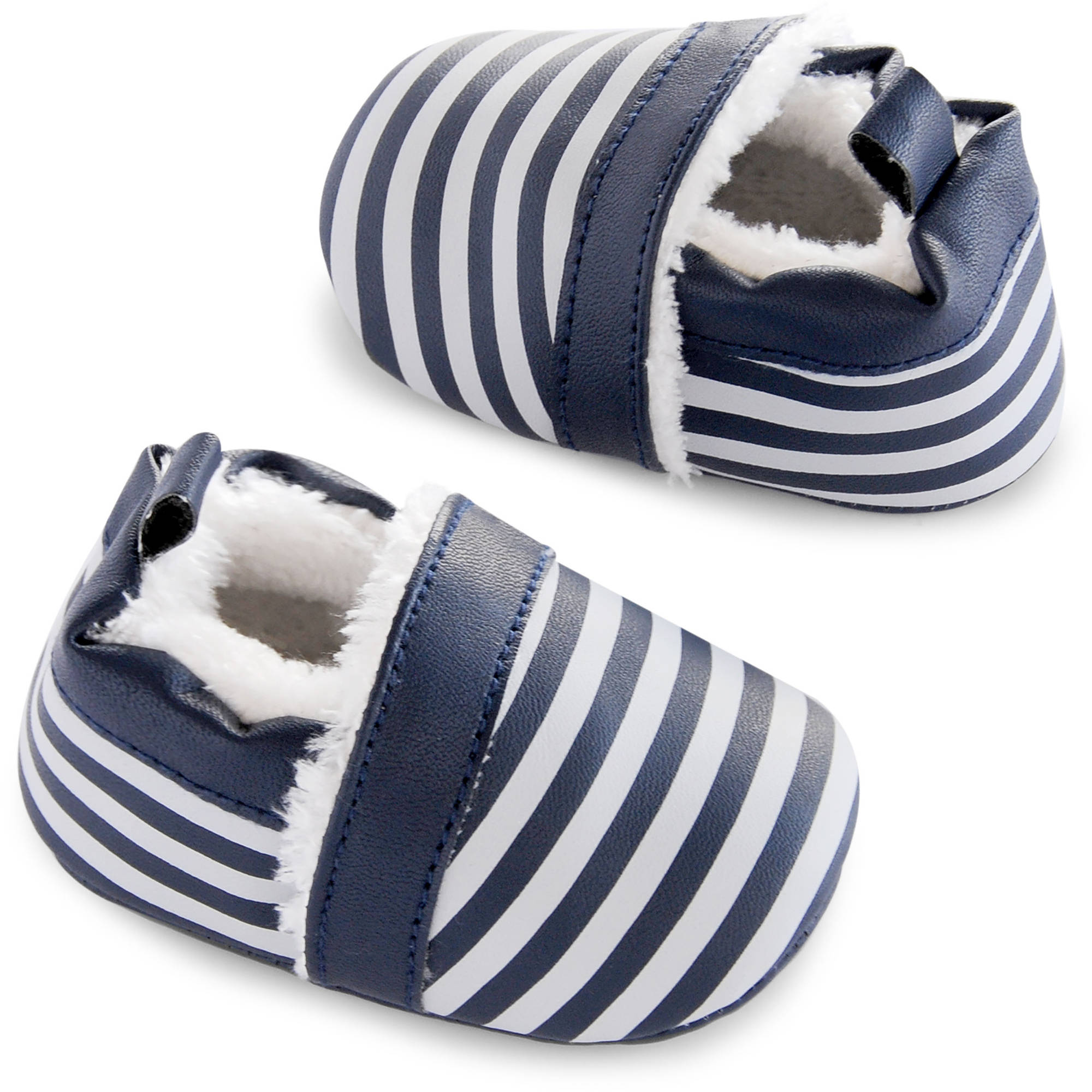 Image of Child of Mine by Carter's Newborn Baby Boy Zoomer Stripe Shoes, NB