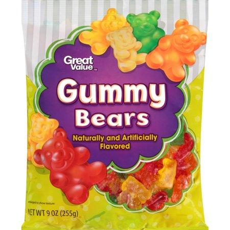 great value gummy bears chewy candy 9 oz walmart com