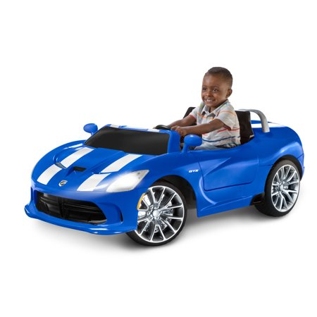 Dodge Viper SRT Ride-On Toy by Kid Trax, single passenger, blue