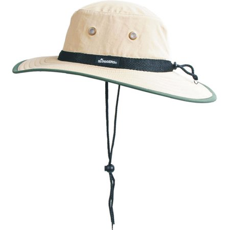 Sloggers 446TN Tan & Dark Green Nylon Sun Hat by