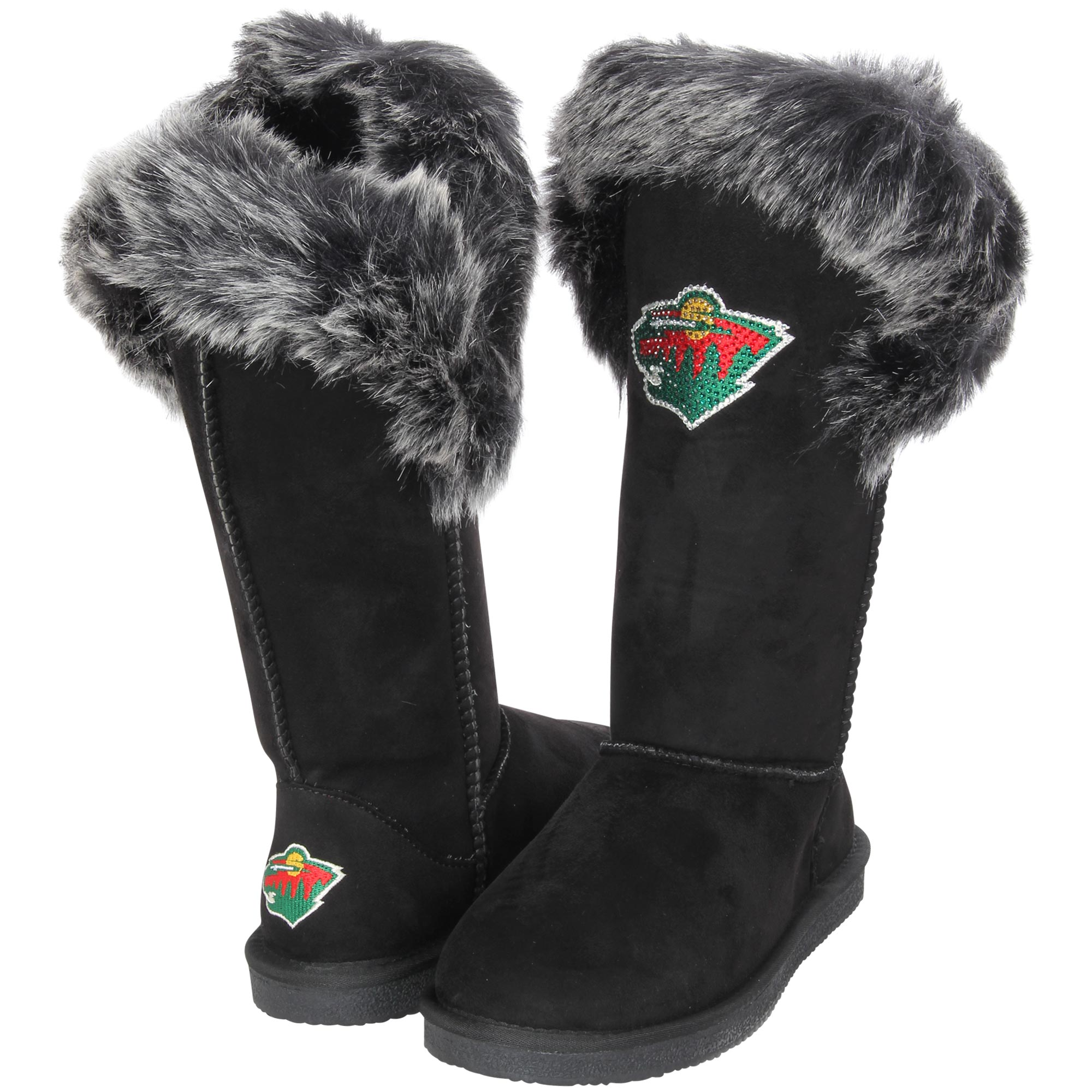 Women's Cuce Black Minnesota Wild Devoted Boots by Cuce Shoes