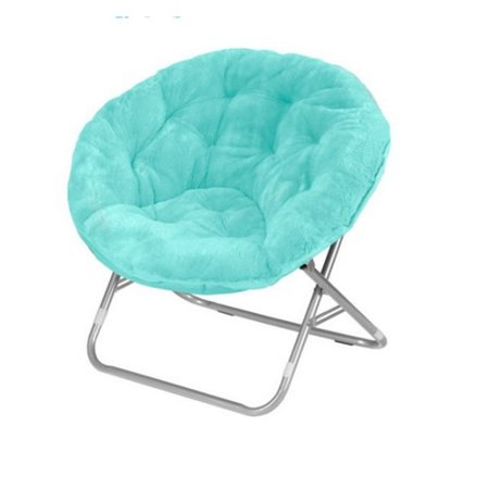 Faux Fur Saucer Moon Chair Dorm Room Lounging Furniture