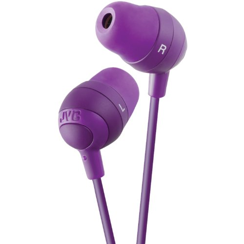 JVC HAFX32V Marshmallow Earbuds, Violet