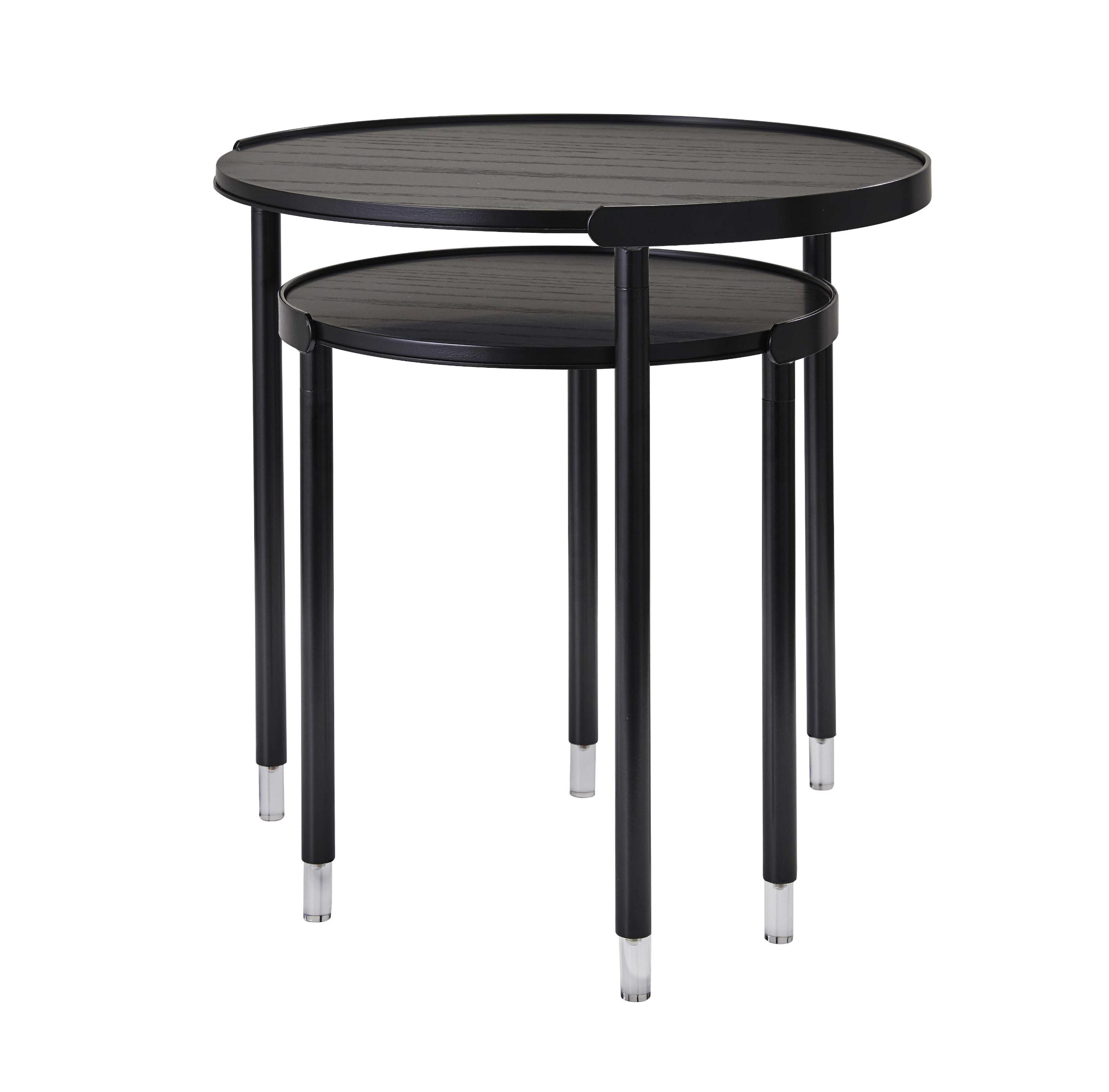 20 25 X 20 25 X 21 75 Black Large Nesting Tables Walmart Com Walmart Com