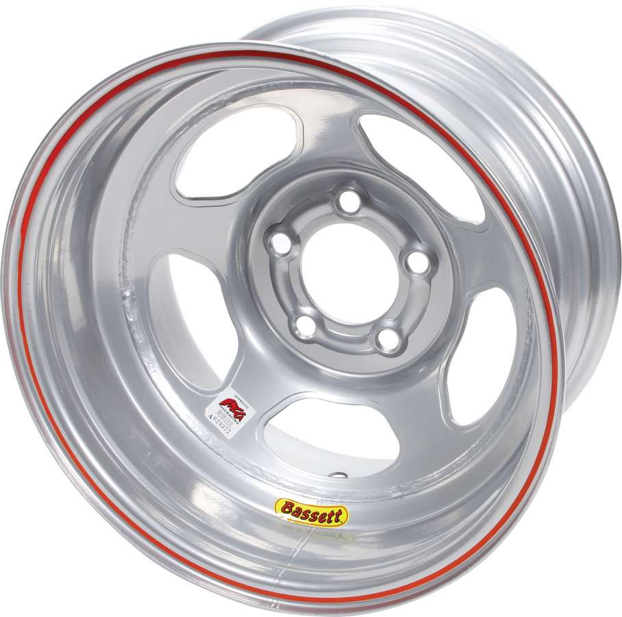 "BASSETT Inertia Advantage 15x8"" 5x4.75 Silver Wheel P/N 58AC3IS"