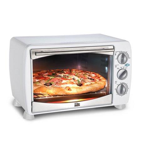 Maxi Matic Elite Platinum 6-Slice 0.64 cu ft Toaster Oven Broiler, White