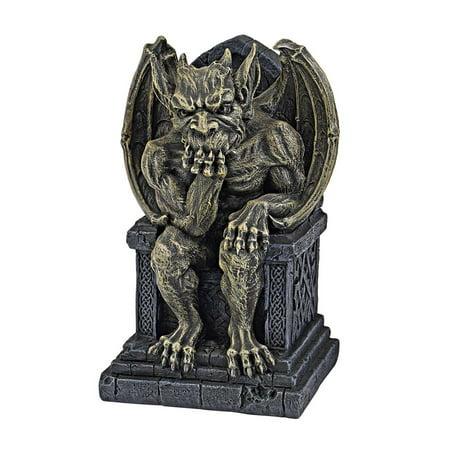 Design Toscano Hemlock's Gargoyle Throne Statue: Small
