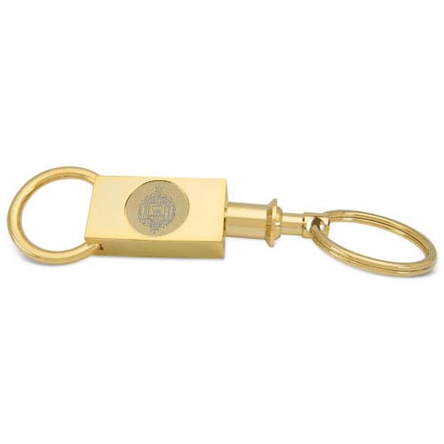 Navy Gold Two-section Key Ring by