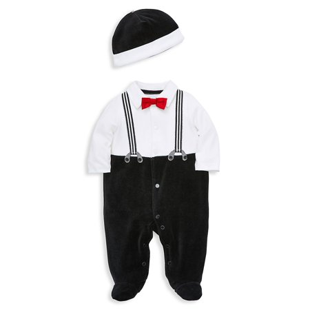 Baby Boy's 2-Piece Footie and Hat