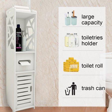 7.9'' x 7.9'' x 31.5'' Bathroom Corner Storage Shelf Cabinet Toilet Vanity Cabinet Bath Sink Organizer Corner Sink Cabinet