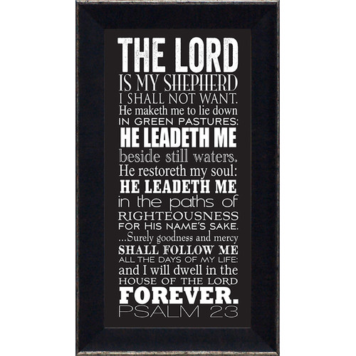 Artistic Reflections Psalm 23 by Tonya Framed Textual Art